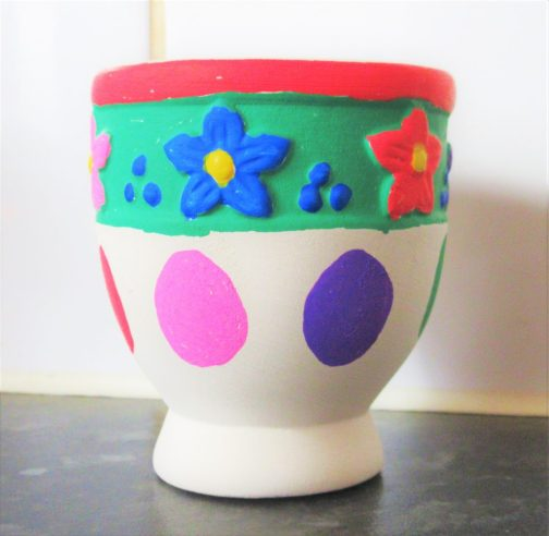 Decorating Egg Cups With Posca Pens