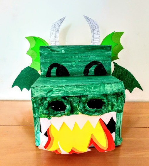 Eva's Green Carboard Box Dragon