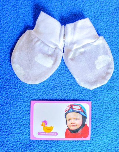 Grey cloud mittens from My Little Duckling