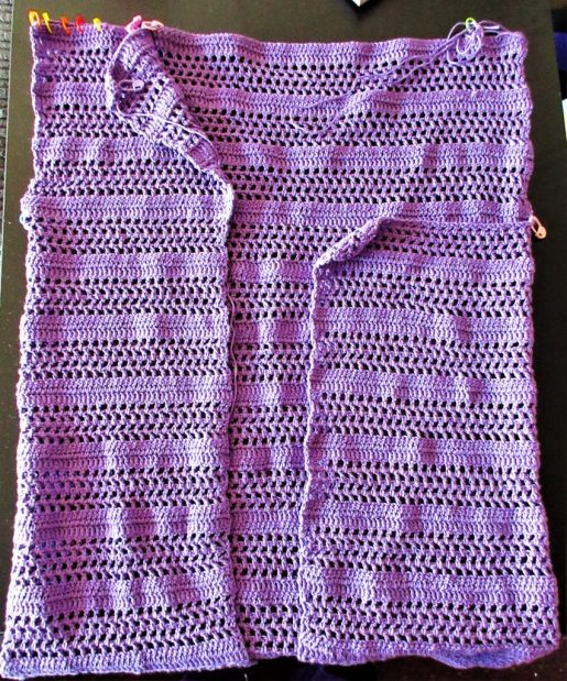 Purple Crocheted Summer Cardigan