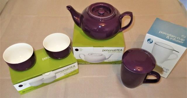 PersonaliTEA Purple Porcelain Range