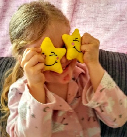 Izzy showing Happy Stars