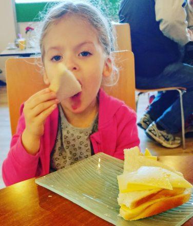 Izzy eating