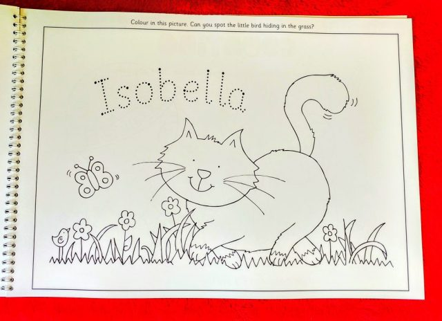 Isobella Personalise activity book