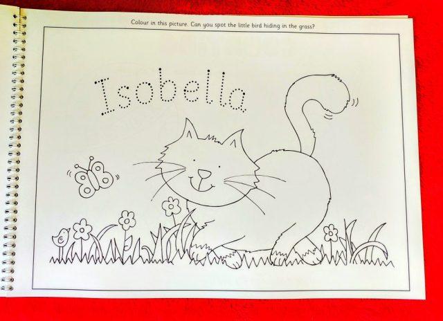 Isobella Personalise activity book