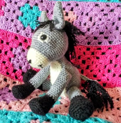 Crocheted Donkey Side on