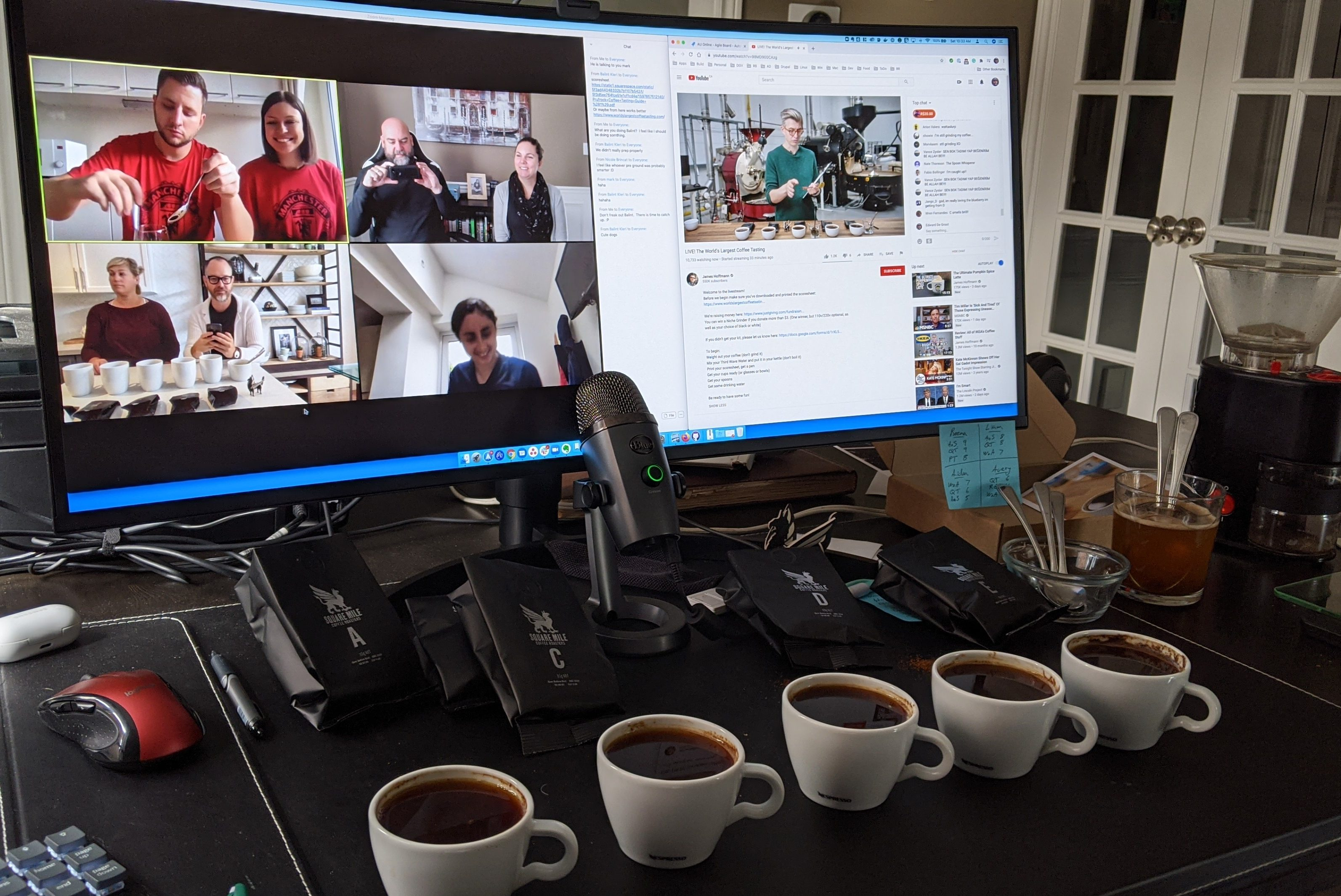 Company virtual coffee tasting