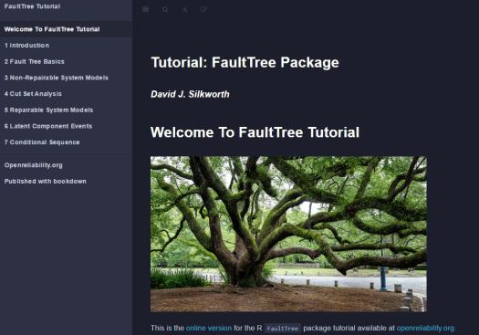 Fault Trees by the R package tutorial