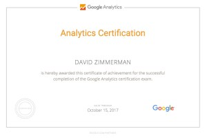 Google Analytics IQ Certificate