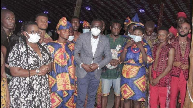 When Gov Sanwo – Olu visited LaCampagne Tropicana Forest River Beach Resort