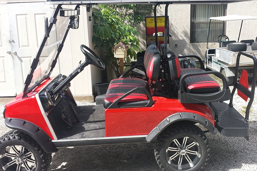 Custom Golf Cart Red