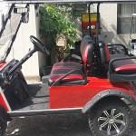 Custom Golf Cart Red