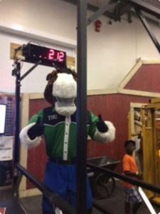 Horse Mascot on Scale