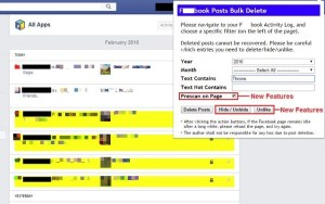 Batch delete posts in Facebook timeline  | Reliable Softwares