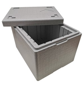 Inner packaging is a sturdy isothermal insert with a lid made from high-performance insulation foam