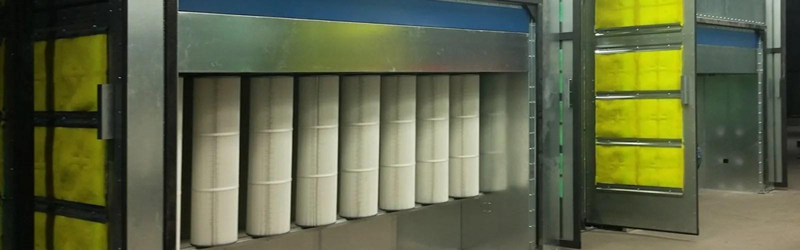 powder coating spray booths powder