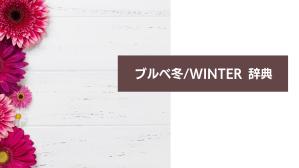 ブルベ冬/ウインターさん辞典