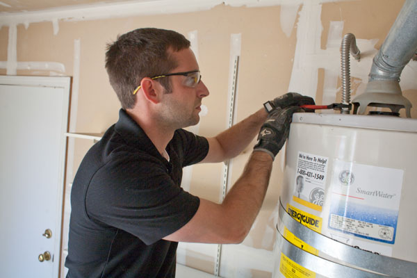 Plumbing client, receives new water heater repair in Loveland, CO.