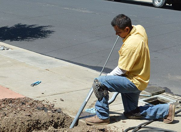 Trenchless sewer repair for residential home in San Diego, CA.