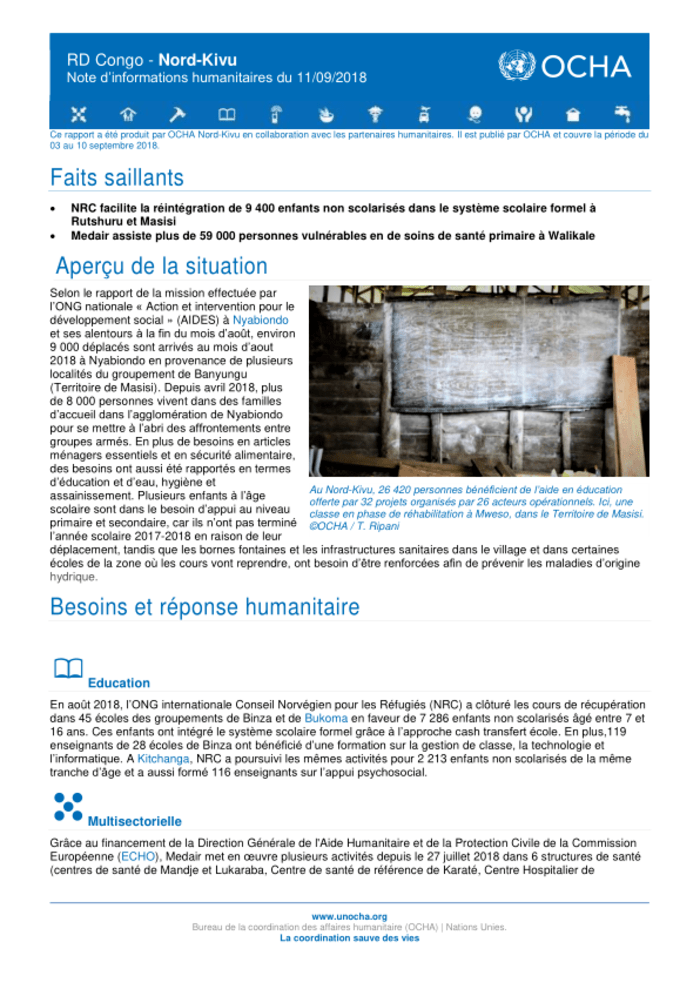 rd congo nord kivu note d informations humanitaires du 11 09 2018 democratic republic of the congo reliefweb