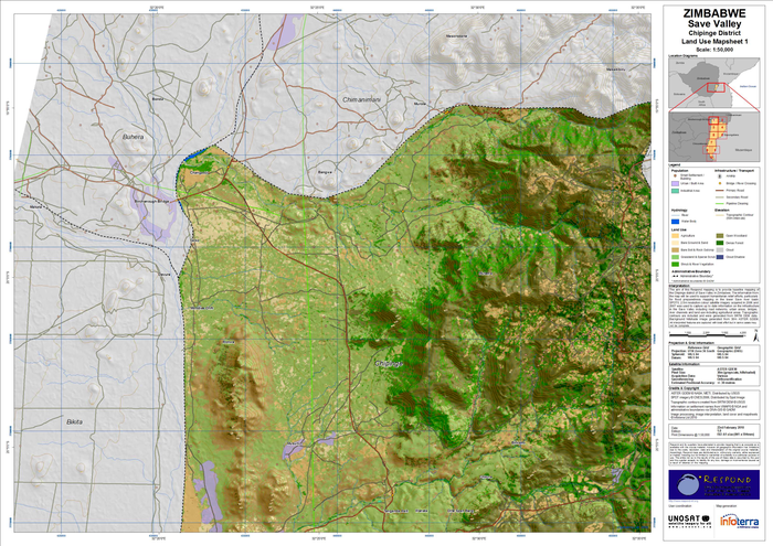 Zimbabwe  Save Valley   Chipinge District   SPOT Land Cover Map     preview