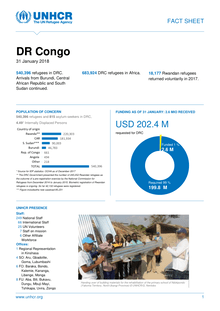 UNHCR DR Congo Factsheet   January 2018   Democratic Republic of the     preview