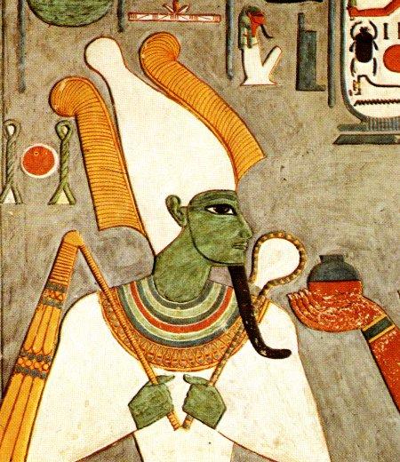 Osiris dieu du panthéon égyptien, inventeur de l'agriculture et de la religion.
