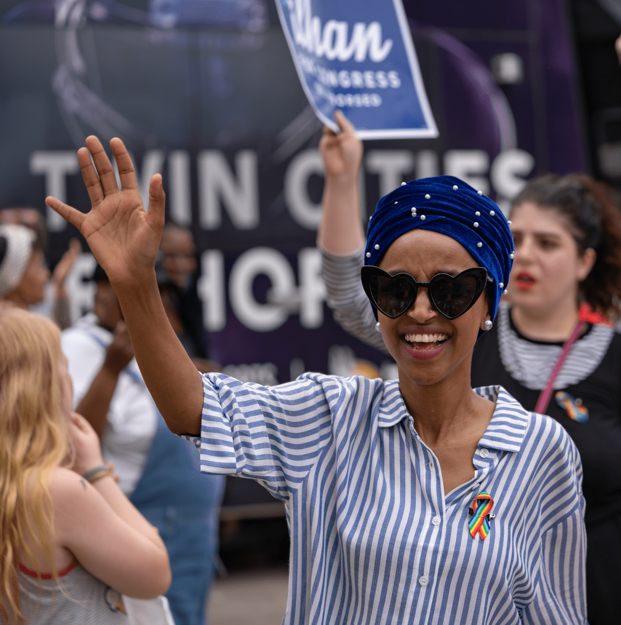 64606503404c Newly elected U.S. Sen. Ilhan Omar as she marched in the 2008 Twin Cities  Pride Parade in Minneapolis. In this newsletter