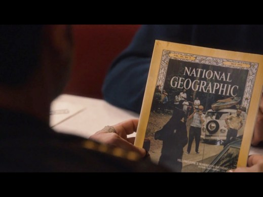 Kevin looking at the magazine in season 1