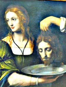 """Det endte ikke godt for Johannes døperen. Vil det gå like dårlig for mandeerne? BernadinoLuini. """"Salome og Johannes døperen."""" Foto: HansOlavArnesen"""
