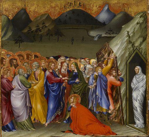 Giovanni_di_Paolo_- Lasarus vekkes til live. 1426. Wikimedia Commons.