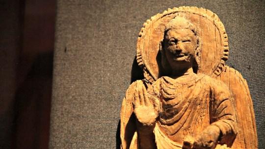 Huffman Rare wooden Buddha