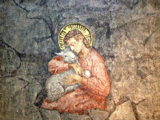 Var Jesus ein ekstremist? Freske av Emanuel Vigeland i Vålerenga kyrkje. Foto: Liv Silva Holmesland