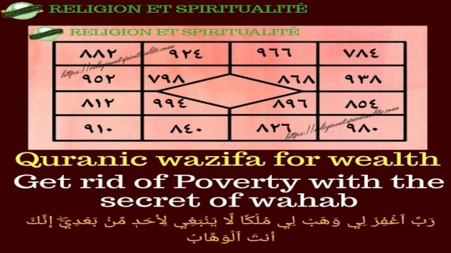 Ya Wahab Quranic wazifa for wealth