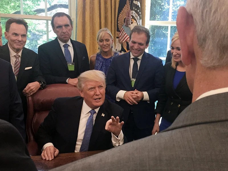 Image result for PHOTOS OF EVANGELICAL PASTORS AT THE WHITE HOUSE