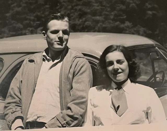 An undated photo of Richard Kendall Miller and Ann Russell Miller. Photo courtesy of Mark Miller
