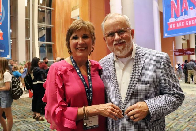 Kathy and Ed Litton at the Southern Baptist Convention in Nashville. RNS photo by Adelle M. Banks