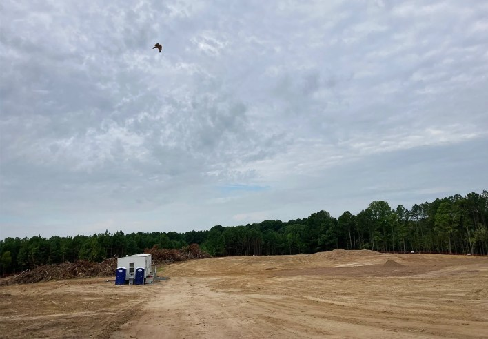 Construction has begun on the the new location for Mother Teresa Catholic Church in Cary, North Carolina. RNS photo by Yonat Shimron