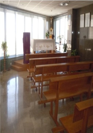 Catholic chapel in a Spanish hospital