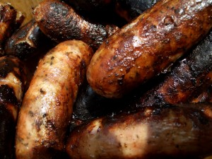 """""""Grilled sausages"""". Licensed under Creative Commons Attribution-Share Alike 3.0 via Wikimedia Commons - http://commons.wikimedia.org/wiki/File:Grilled_sausages.jpg#mediaviewer/File:Grilled_sausages.jpg"""