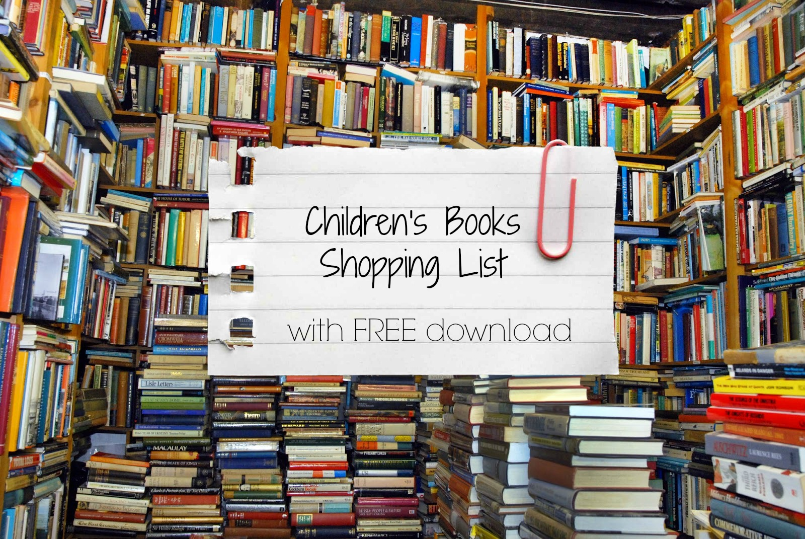 Children's Books Shopping List (with FREE download)