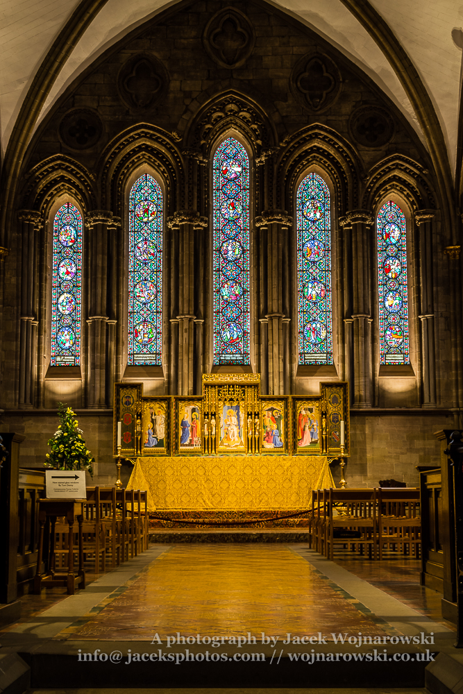 Hereford Cathedral inside The Lady Chapel, captured at Hereford, England, UK