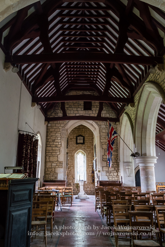 Brookthorpe, St Swithun, 13th-century church with Victorian additions - nave A