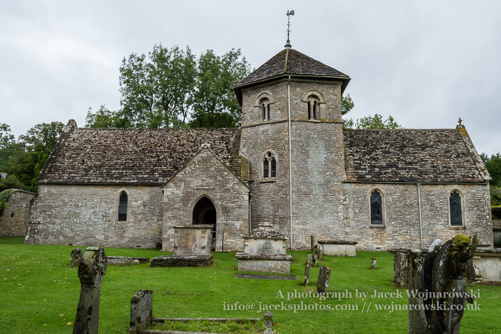 Ozleworth, St Nicholas of Myra, Norman Church outside facade B
