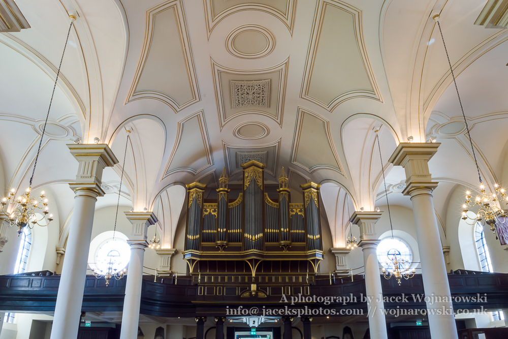 Derby Cathedral Organs Ceiling HDR horizontal photography