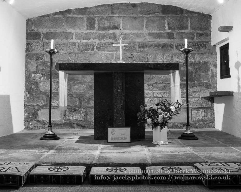 Derby Cathedral Saint Katharines Chapel black and white horizontal photography