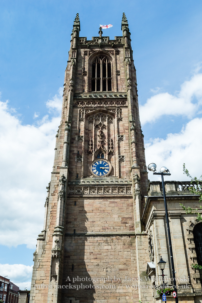 Derby Cathedral Tower B vertical photography
