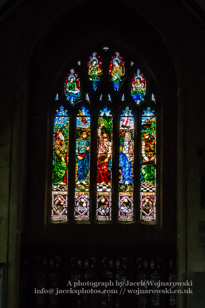 All Saints Church in Langport Stained Glass Nave