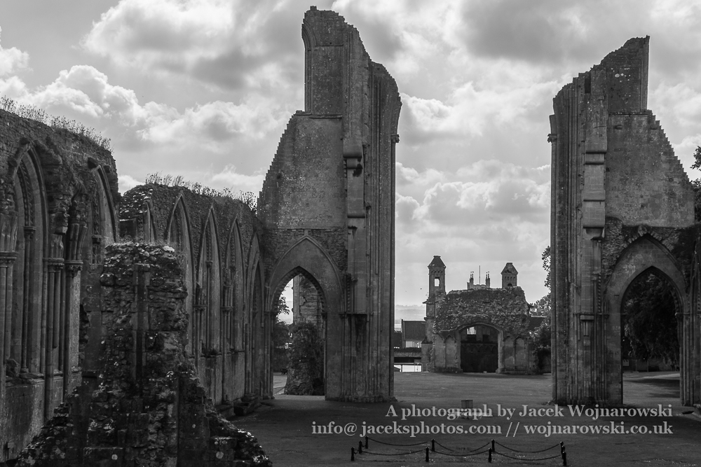 Ruins of Glastonbury Abbey M, The abbey was founded in the 7th century and enlarged in the 10th