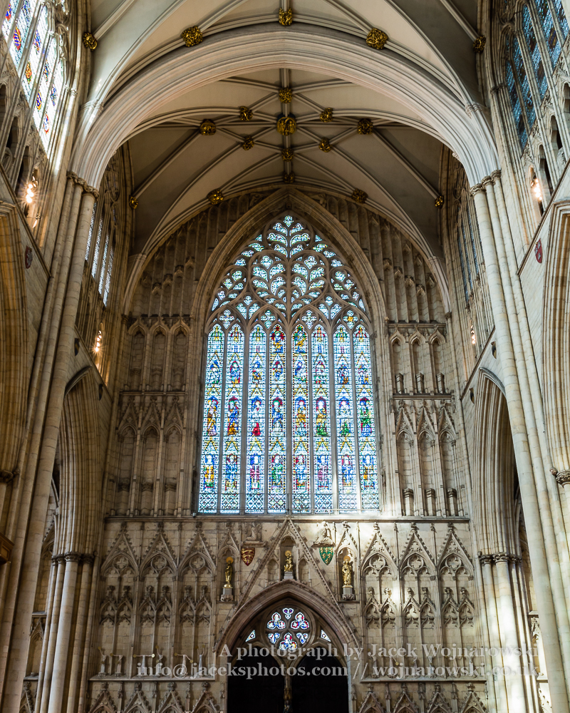York Minster West Window Interior Heart Of York low angle A